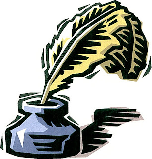 clip art of quill pen in inkwell