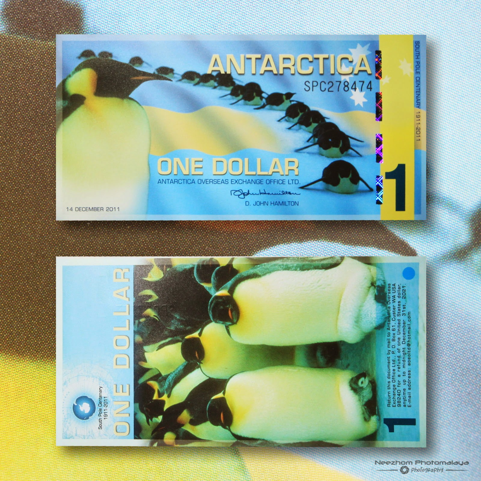 One Dollar 2011 Antarctica polymer Banknote