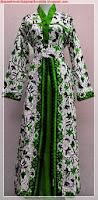 Model baju batik gamis muslimah kombinasi