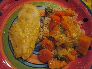 Roslyn's Coconut Milk Curry Chicken & Veggies Recipe