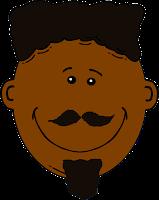 uomo con pelle nera