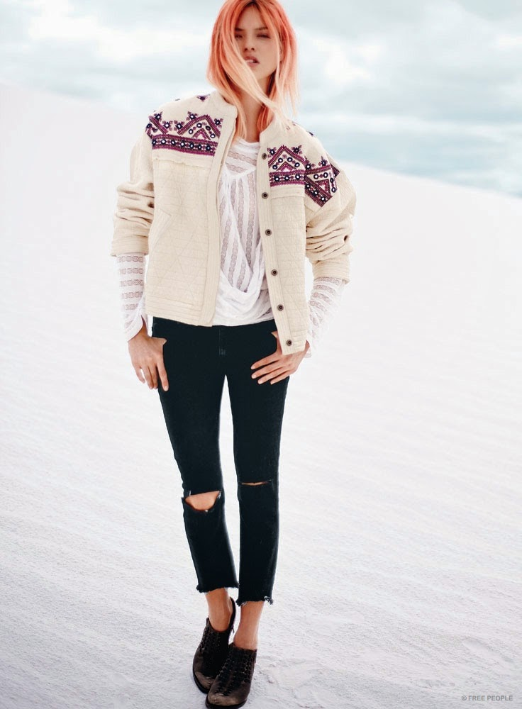 Free People Spring 2015 Lookbook featuring Martha Hunt and Catherine McNeil