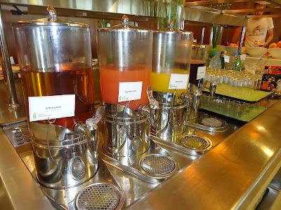 Variety of Juices in Assymetri Restaurant, Raddison Blu Hotel Yas Island Abu Dhabi