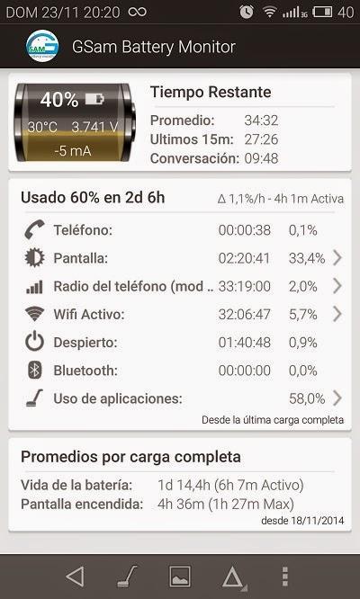 YoAndroideo.com: GSAM Battery Monitor: Buscando al culpable que nos gasta la batería