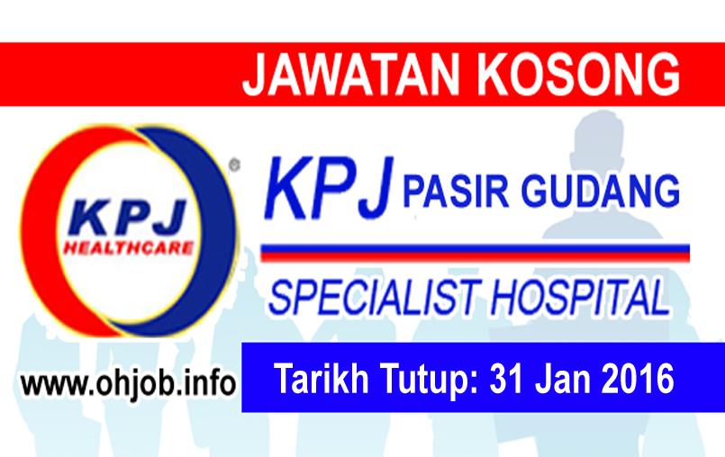 Jawatan Kerja Kosong KPJ Pasir Gudang Specialist Hospital logo www.ohjob.info januari 2016