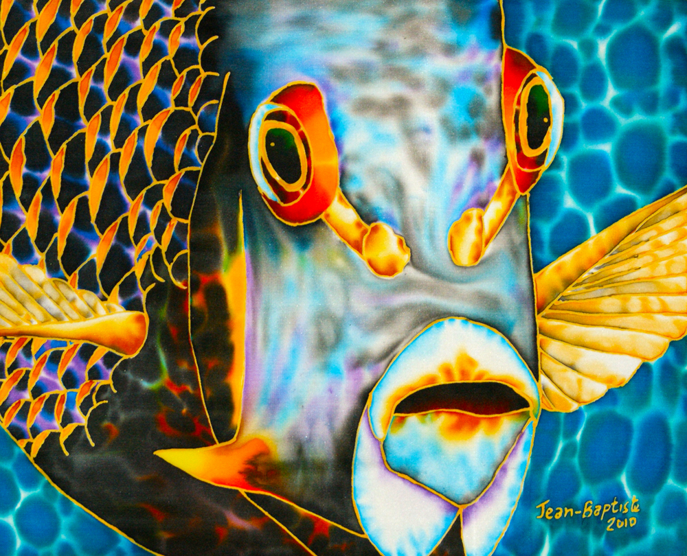 silk art of jeanbaptiste french angelfish face