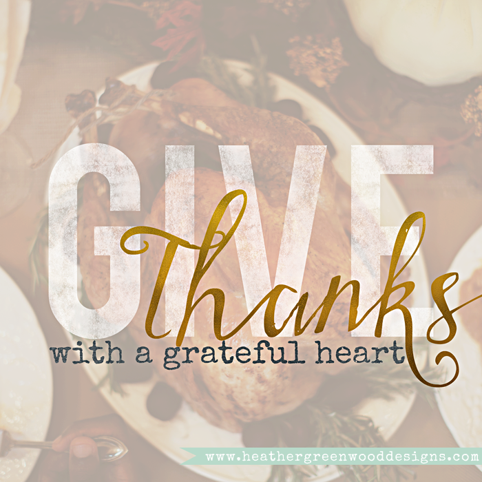 Thank you and Happy Thanksgiving from Heather Greenwood Designs