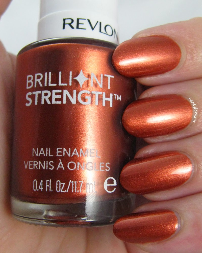 Revlon Brilliant Strength Captivate Swatch Fall Manicure