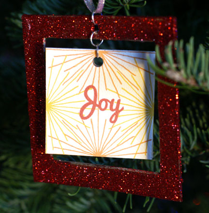 Serious Whims Diy Glitter Picture Frame Christmas Ornament