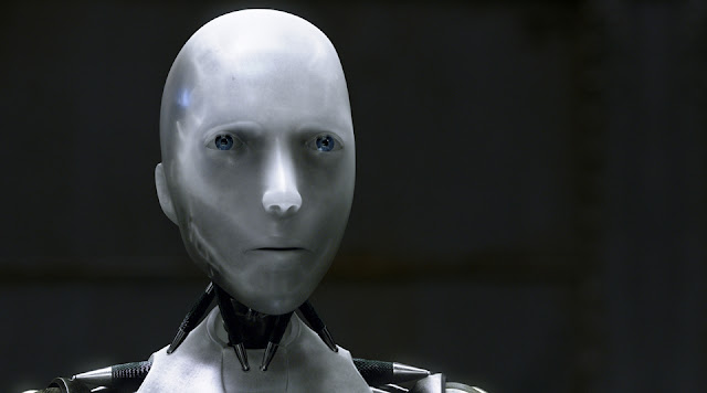 A screenshot of the robot Sonny from I, Robot (2004)