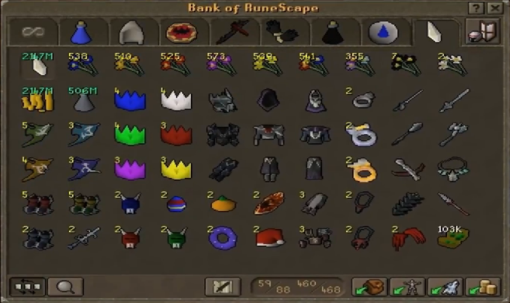 Here is a picture of cash and items we have gained from this exploit