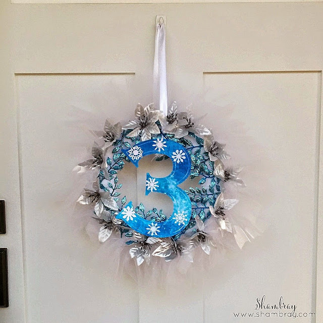 3, wreath, winter, snowflakes
