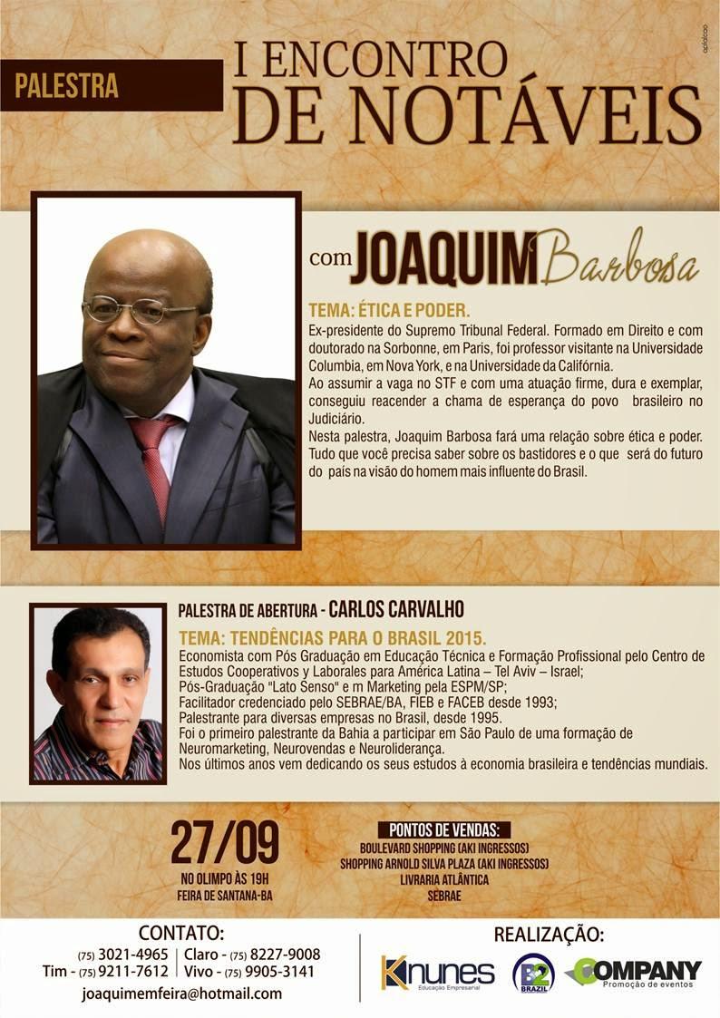 Joaquim Barbosa em Feira de Santana