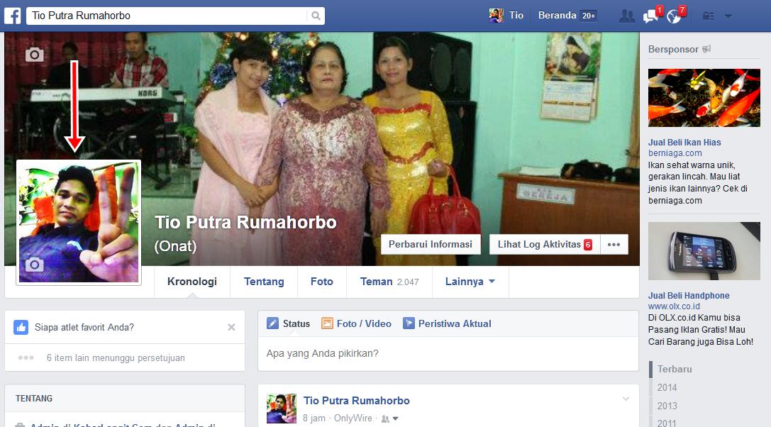 cara membuat poto profil facebook tidak bisa diklik orang lain