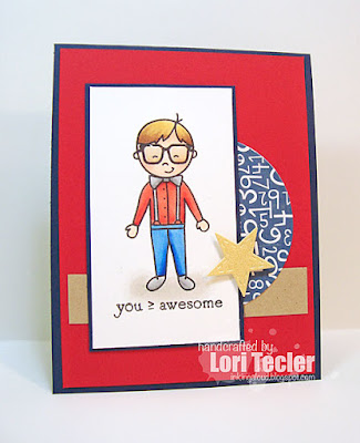Awesome card-designed by Lori Tecler/Inking Aloud-stamps from Avery Elle