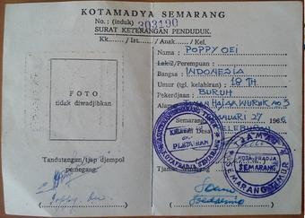 KTP Indonesia wilayah Kotamadya Semarang juga tidak ada kolom agamanya