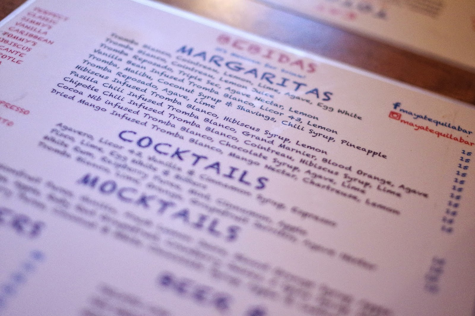 Maya Tequila Bar And Grill menu image