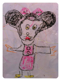 Mini Cheddars drawing of Mini Mouse