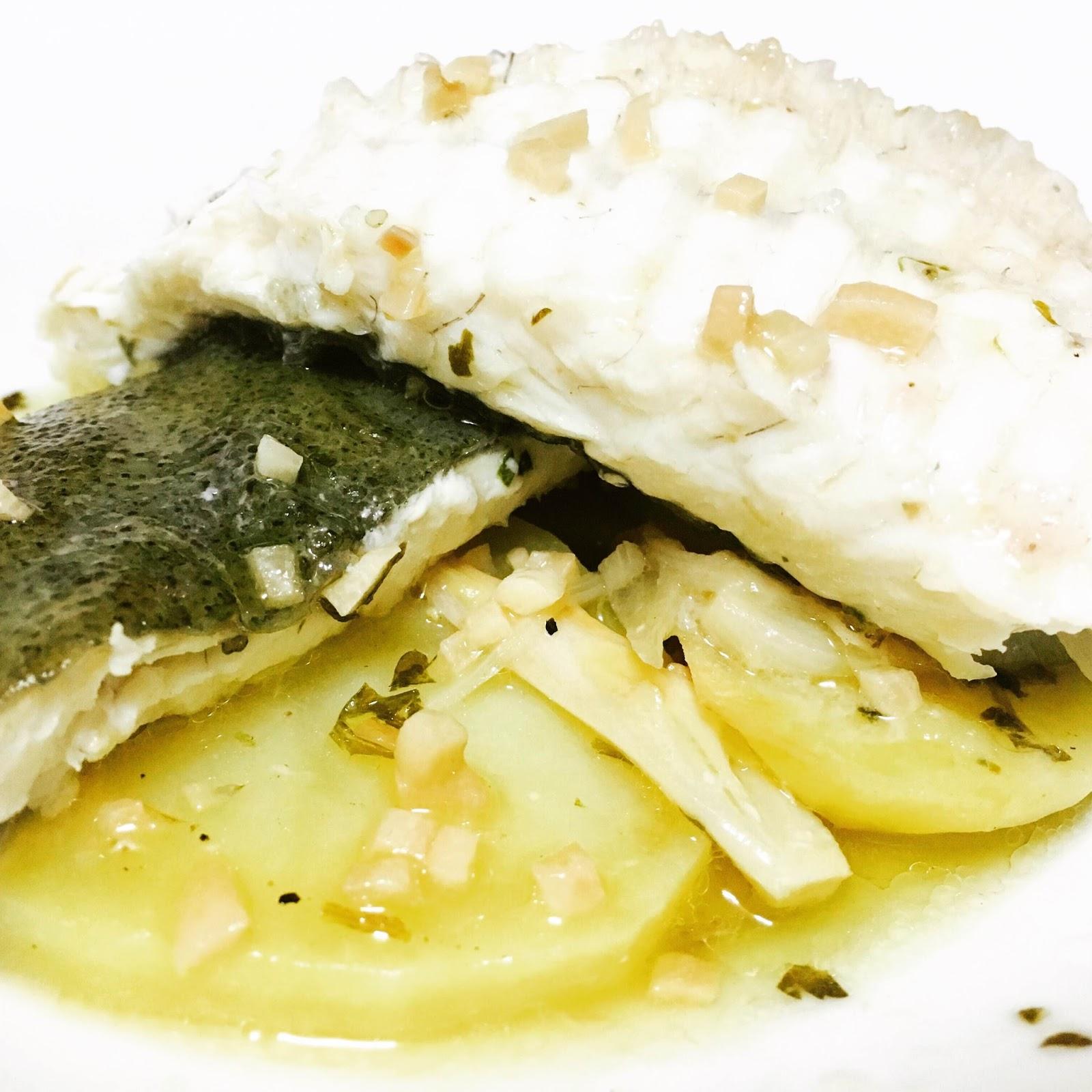 Como Cocinar El Rodaballo | Rodaballo Al Horno Con Sidra Y Patatas