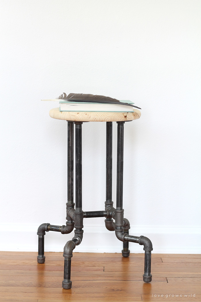 DIY industrial pipe stool