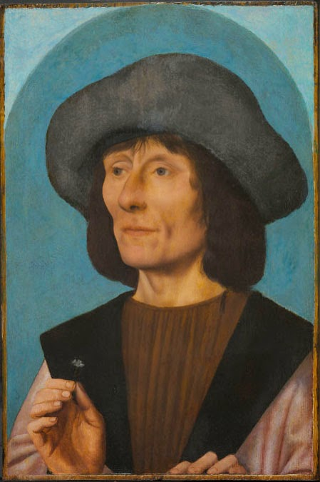Quentin Massys - Portrait of a Man with a Pink , 1500
