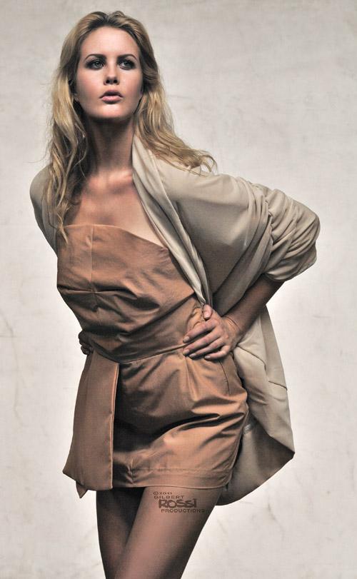 fashion studio shoot by sydney photographer gilbert rossi,gilbert rossi shoots fashion in his balmain studio, model sophie saunders wears nicole bennet design dress