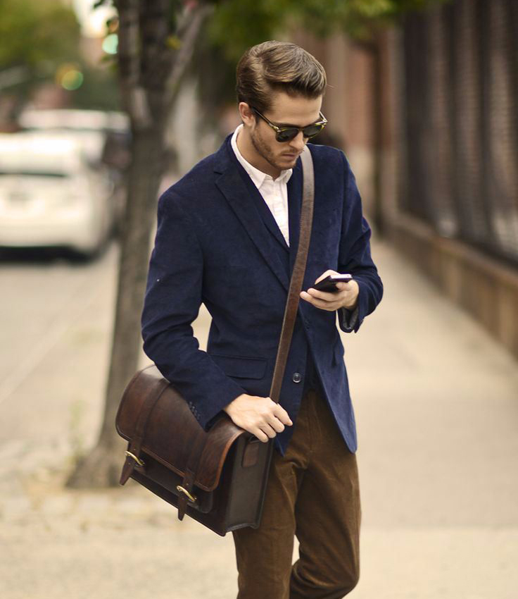 Bolsa De Ombro Masculina Couro : Macho moda de masculina bolsa