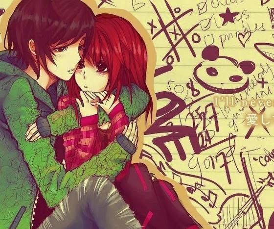 sad hug love