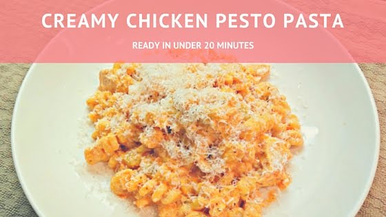 Creamy Chicken Pesto Pasta Recipe from the Petite Passions