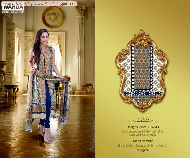 Warda Exclusive Silk Collection 2014-2015