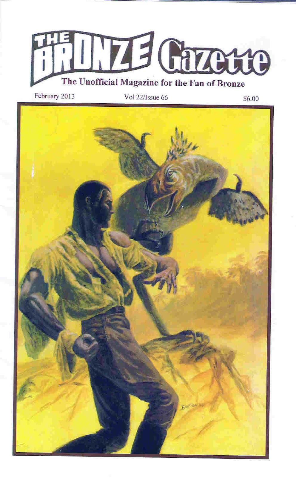 The Bronze Gazette issue 76 - 2016 Doc Savage Fanzine First issue!