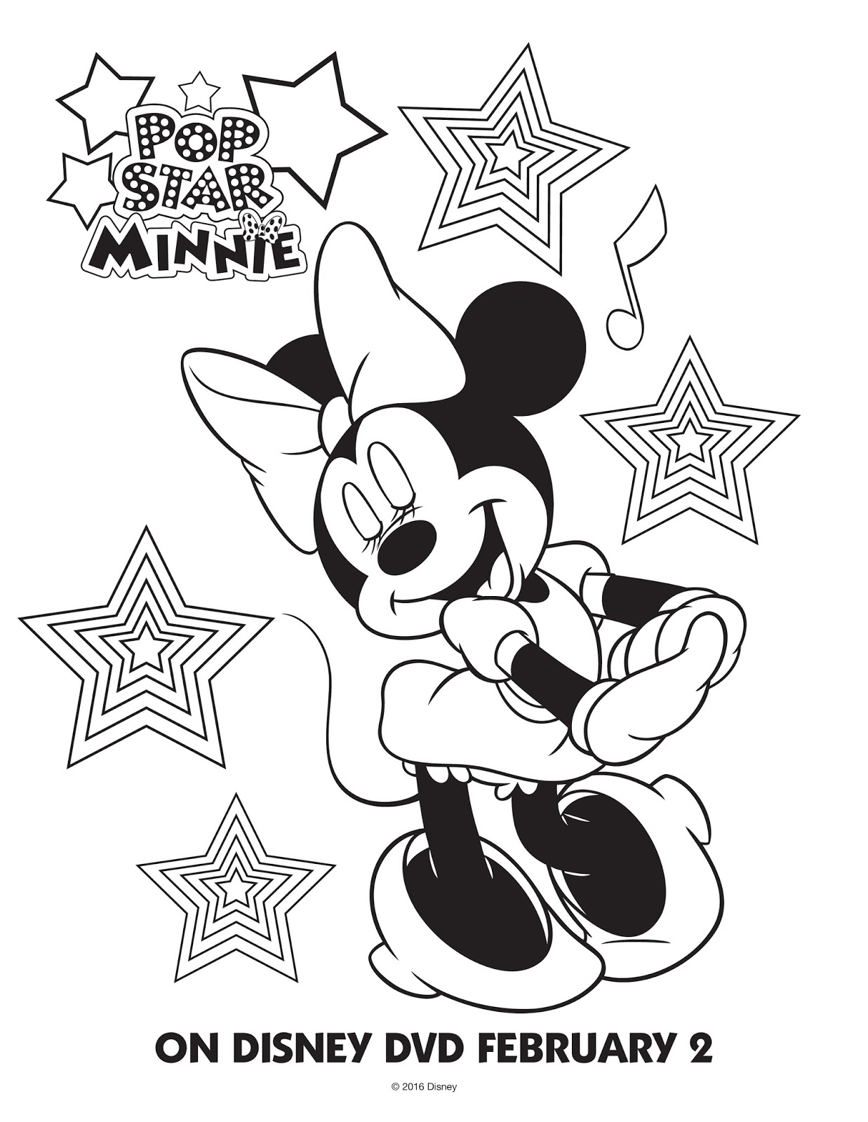 Color Page Minnie Mouse