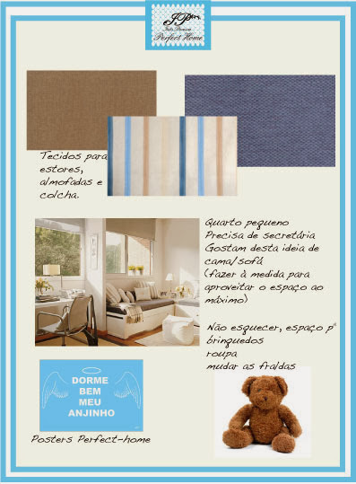 Inspiration Board @ Blue and beige stripes boy's bedroom