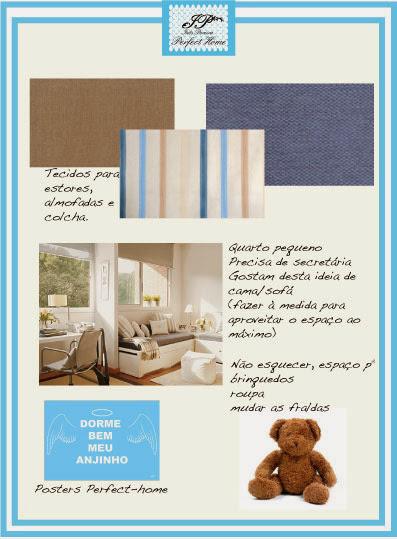 Inspiration Board @ Blue and beige stripes boy's bedroom