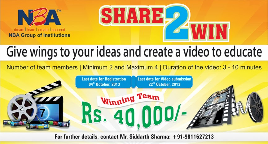 Share 2 Win - Unleash your Creativity in a Video and Win 40K