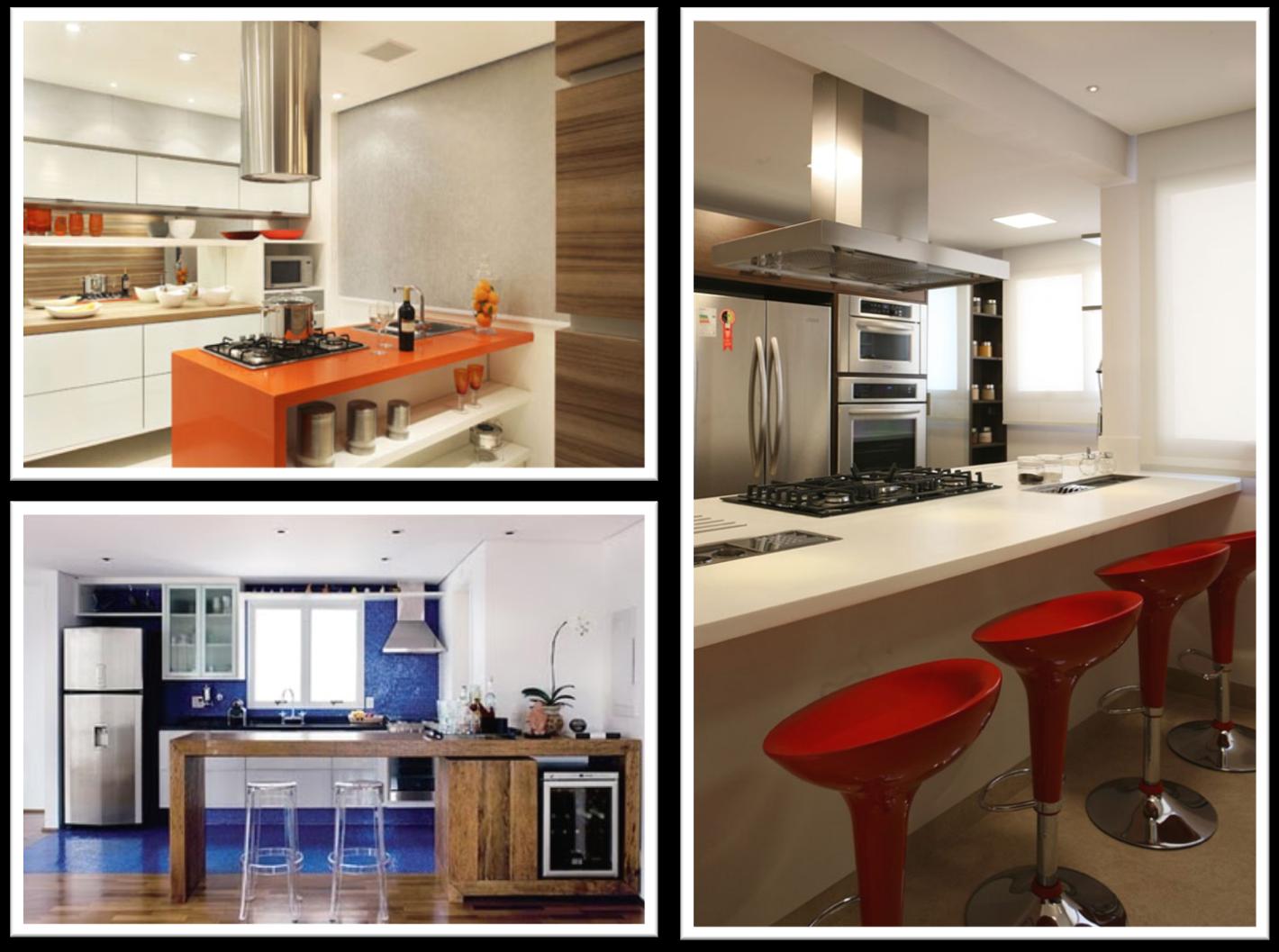 #A85123  parede em pastilhas que delimitam o espaço dessa cozinha integrada 1420x1057 px Projete Minha Própria Cozinha_914 Imagens