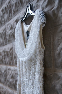 Lace dress detail