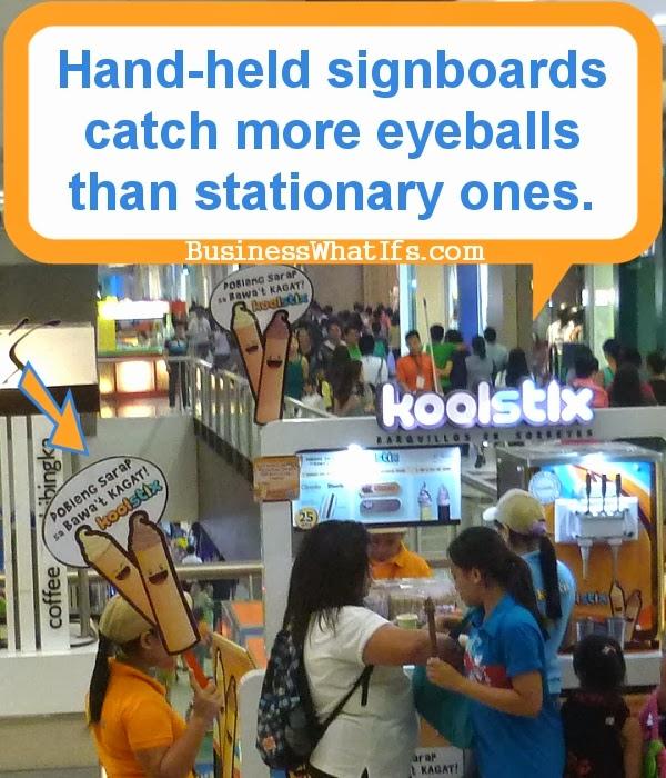 Koolstix Hand-held Signboard