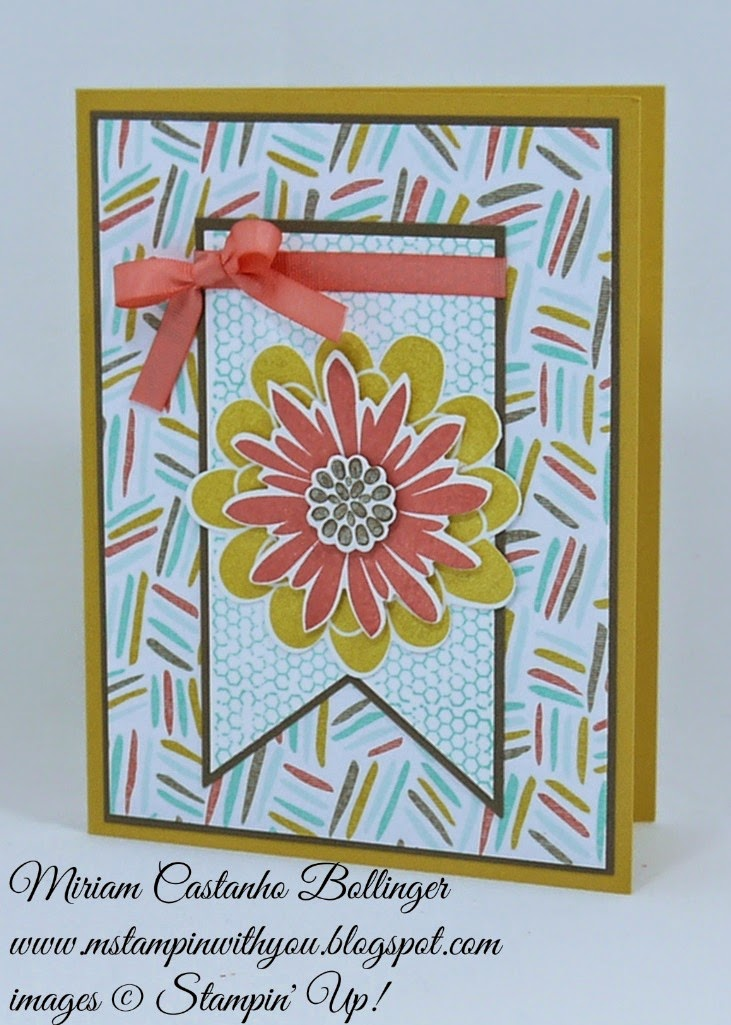 Miriam Castanho Bollinger, #mstampinwithyou, stampin up, demonstrator, rs151, best year ever dsp, best year ever accessory pack, flower patch bundle, big shot, banner framelit, su