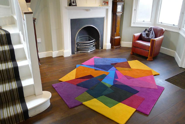 D co des tapis tout fous multicolores et d structur s - Alfombras de salon ikea ...
