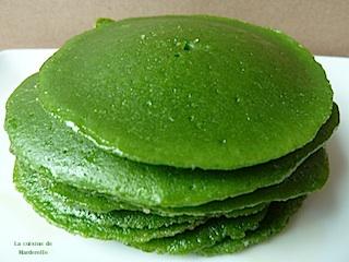 blinis verts aux épinards