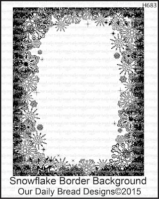 Our Daily Bread Designs Stamp set: Snowflake Border Background