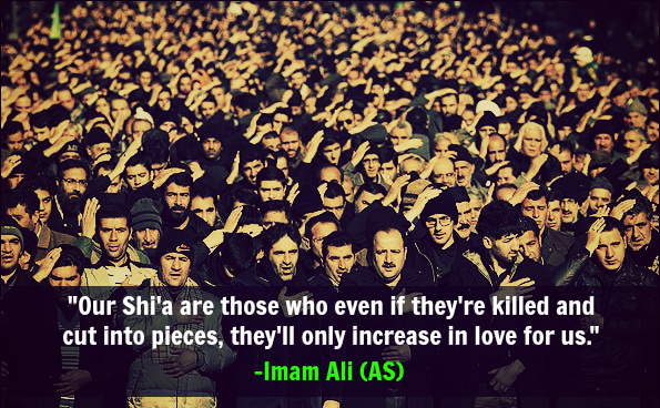 Our shi'a are those who even if they're killed and cut into pieces, they'll only increase in love for us.
