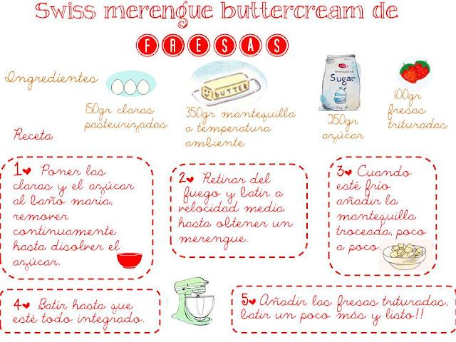 swiss merengue buttercram de fresa