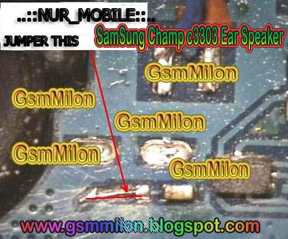 samsung champ c3303 ear speaker not working solution
