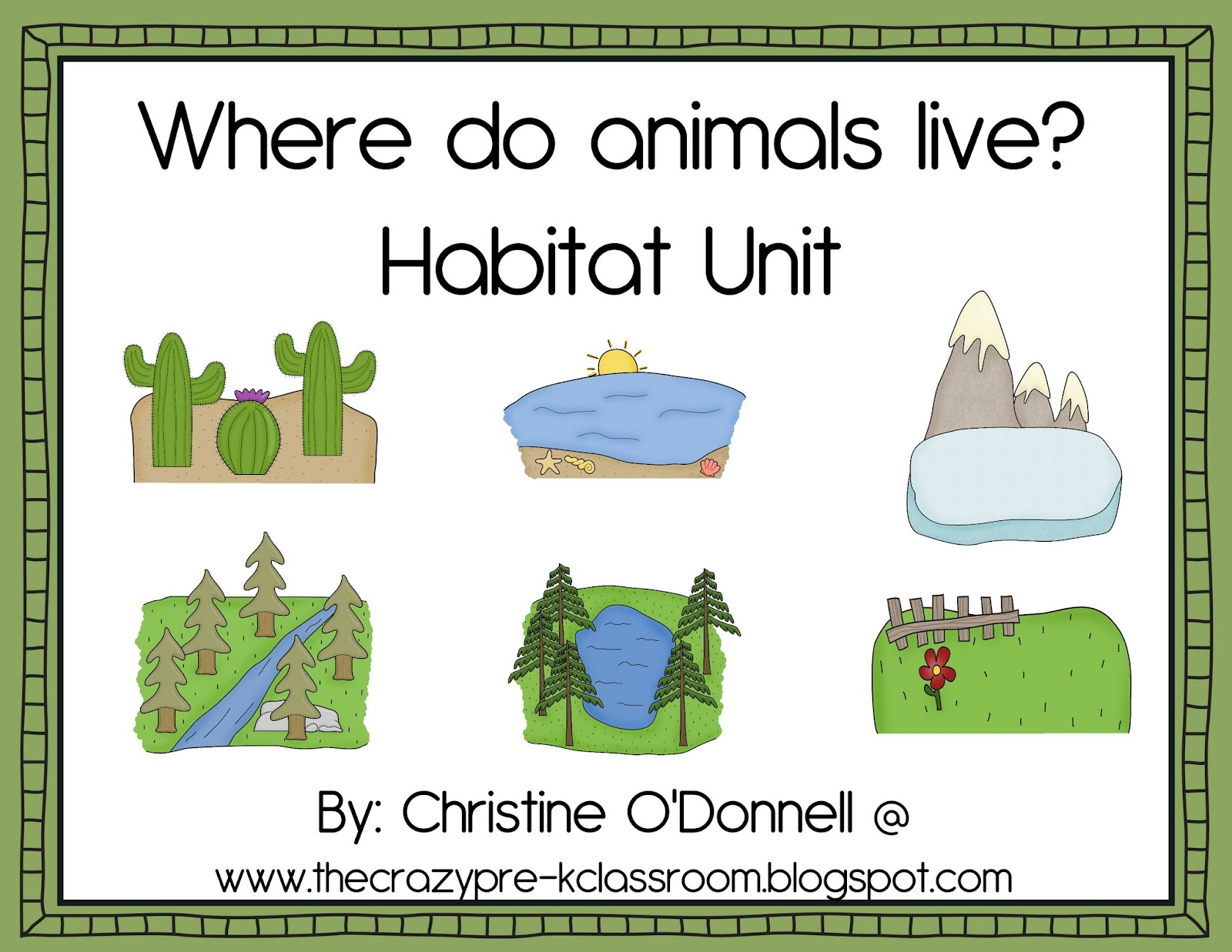 Worksheets Animal Habitats Worksheets the crazy pre k classroom animal and habitat teaching ideas for a freebie