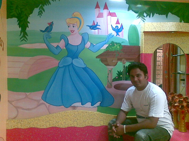 customized cartoon wall painting mumbai - Cartoon Painting For Kids