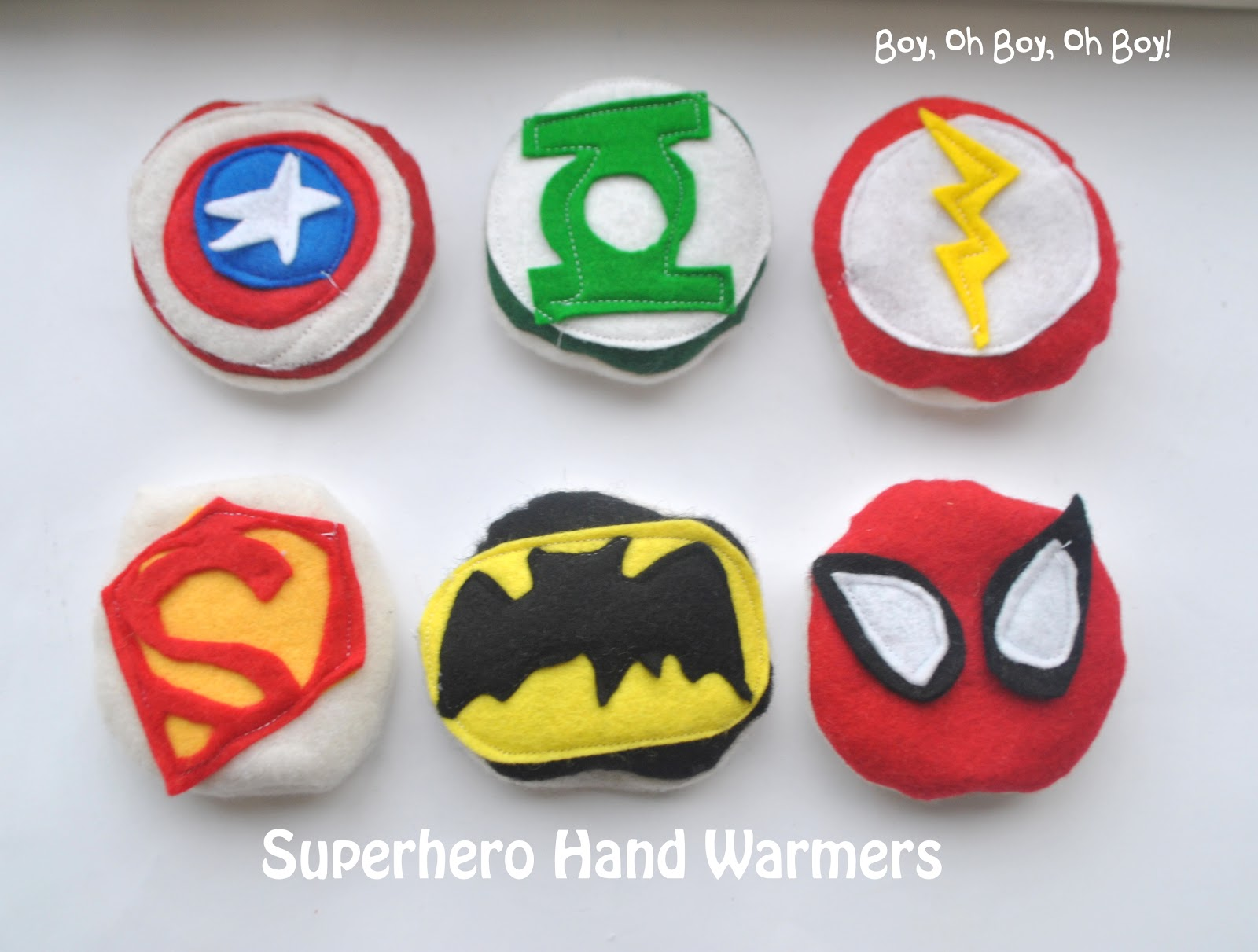Superhero Hand Warmers