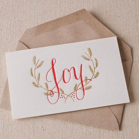 Smock Paper, Letterpress Cards, Holiday Cards