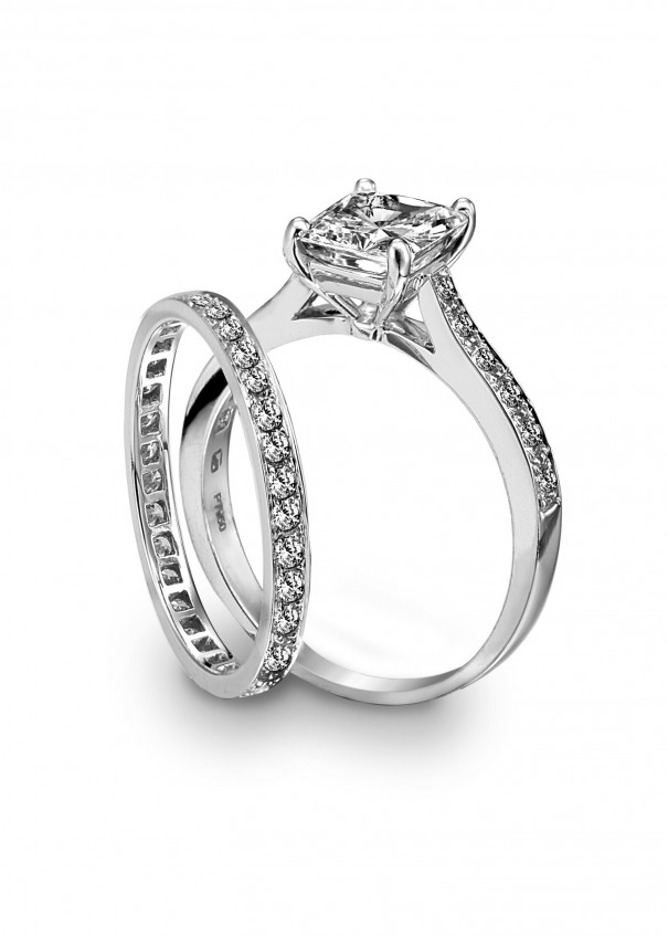 Engagement Ring With Platinum Diamond